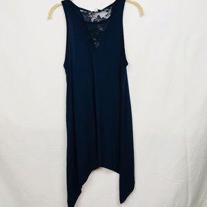 Blue Poseidon Tank Top with Lace